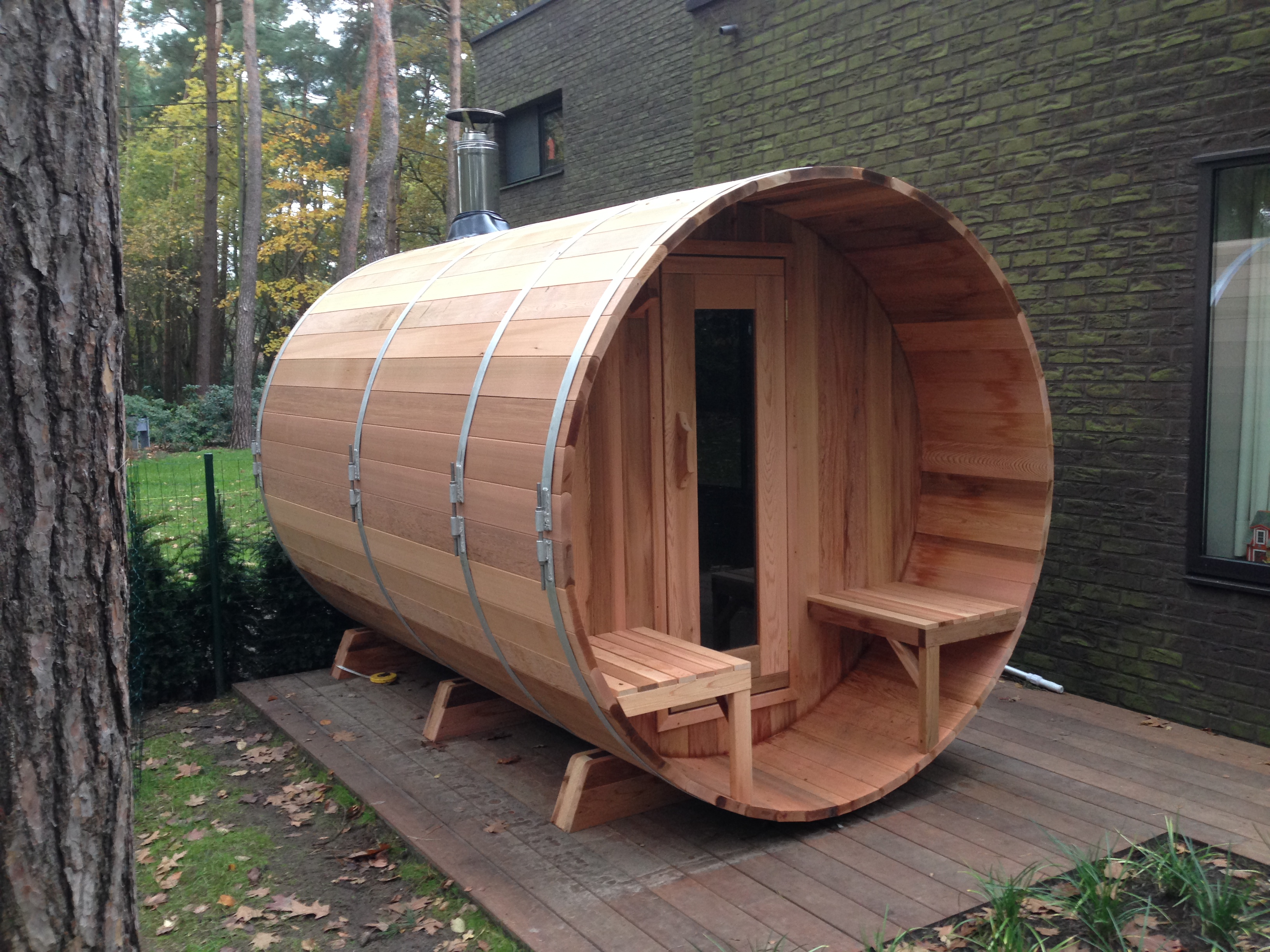 barrel sauna harvia wellness