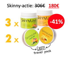 3 x Skinny packet + 2 x Travel packet min 41%