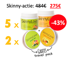 5 x Skinny packet + 2 x Travel packet min 43%